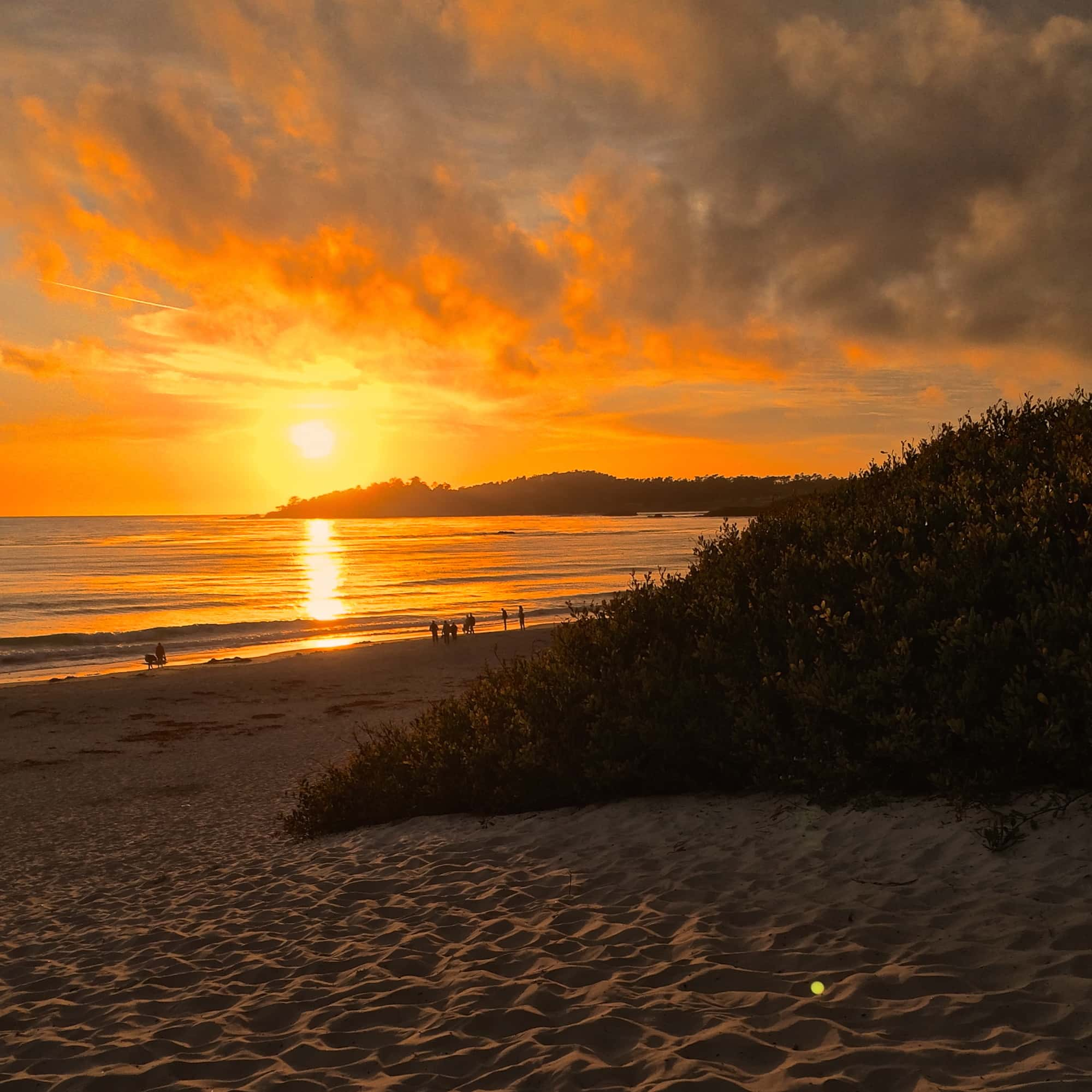 Sunset at Carmel-by-the-Sea.