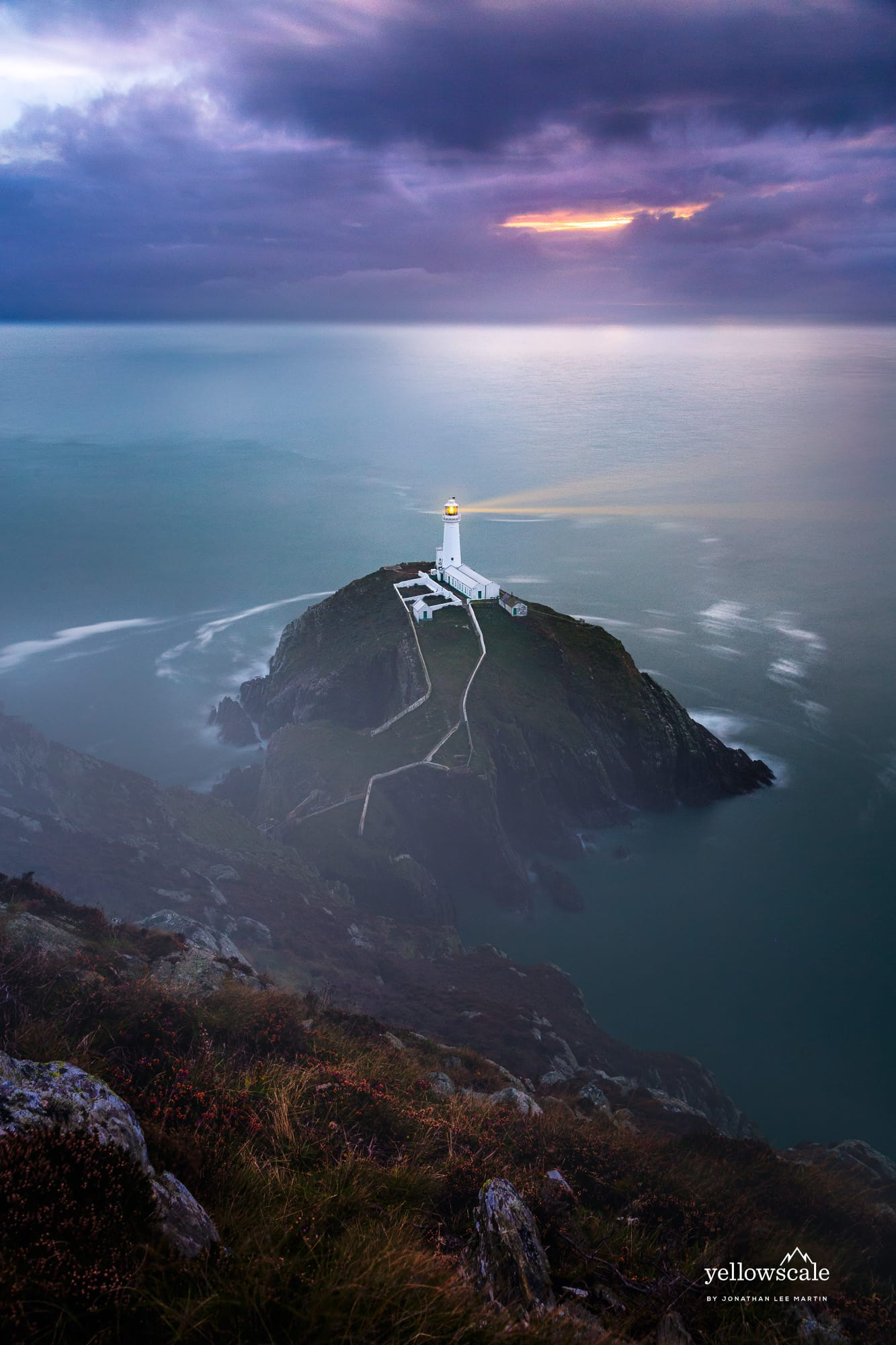 South Stack Lighthouse in Holyhead, Wales, UK